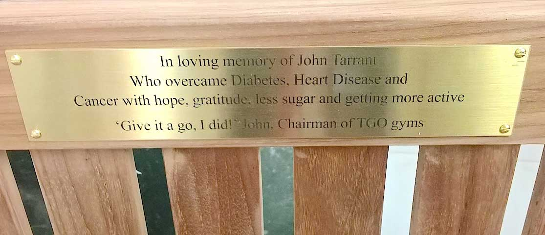 John-Tarrant-TGO-Chairman-memorial-bench-St-Thomas-Hospital-London